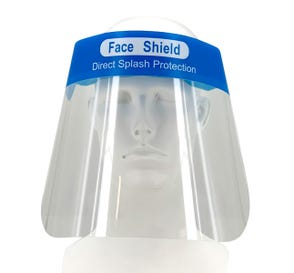 "Disposable Plastic Protective Face Shield 13"" x 8.5"""