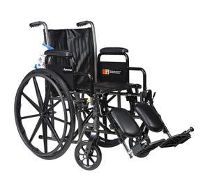 "Wheelchair 20"" Swing Foot Rest & Arm Rest"