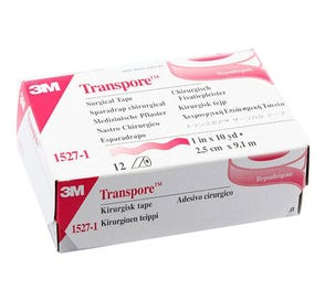 "Transpore™ Surgical Tape, Transparent Plastic, 1"" x 10 yds - 12/Box"
