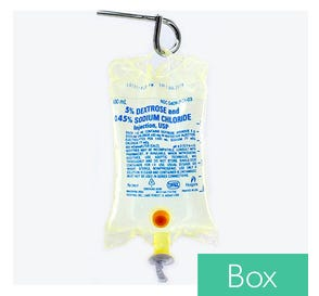 5% Dextrose and 0.45% Sodium Chloride, 500ml Plastic Bag for Injection - 24/Case