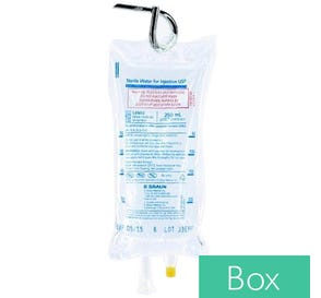Sterile Water 250ml Plastic Bag for Injection - 24/Case