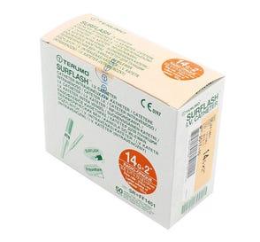 "SurFlash® Polyurethane IV Catheter, 14G x 2"", Orange - 50/Box"