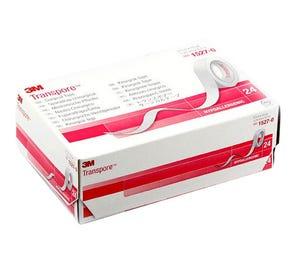 "Transpore™ Surgical Tape, Transparent Plastic, 1/2"" x 10yds - 24/Box"