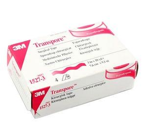 "Transpore™ Surgical Tape, Transparent Plastic, 3"" x 10yds - 4/Box"