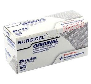 "Surgicel® Absorable Hemostat 2"" x 3"" - 12/Box"