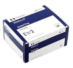 Webcol™ Alcohol Prep Pads, Large, 2 Ply - 200/Box