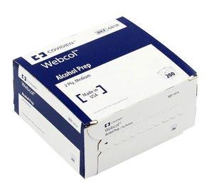 Webcol™ Alcohol Prep Pads, Medium, 2 Ply - 200/Box