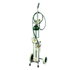 Oxygen Cylinder Cart for D or E Cylinder