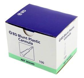 Blunt Plastic Cannula 17ga - 100/Box