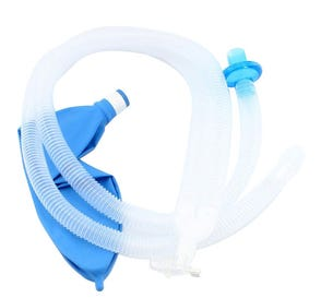 "40"" Adult Circuit w/ Gas Sampling Elbow, Straight Wye, Breathing Filter, 3L Breathing Bag 3L Breathing Bag - 20/Case"