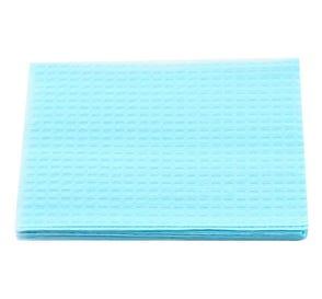 "Patient Towel Tissue/Poly 13"" x 18"" 3-Ply Blue - 500/Case"