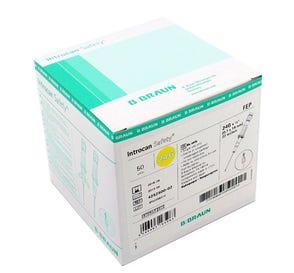 "Introcan® Safety IV Catheter 24G x 3/4"" Straight Teflon - 50/Box"
