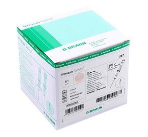 "Introcan® Safety IV Catheter 20G x 1"" Straight Teflon - 50/Box"