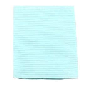 """Professional® Thrift Patient Towels, 2-Ply Tissue, 19"""" x 13"""", Blue - 500/Case"""