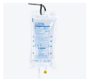 5% Dextrose, 250ml Plastic Bag for Injection - 24/Case