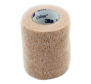 "Coban™ Self-Adherent Wrap, Tan, Sterile, 3"" x 5 yds - 24/Box"