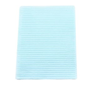 """Poly-Gard® Patient Towels, 3-Ply Tissue with Poly, 19"""" x 16"""", Blue - 500/Case"""