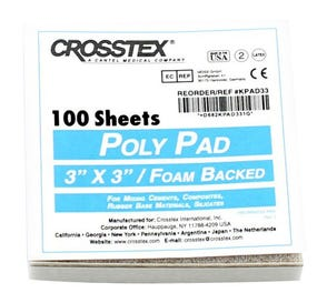 "Poly Coated Mixing Pad, 3"" x 3"", White, - 100/Sheets"