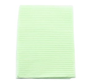 """Polyback® Patient Towels, 3-Ply Tissue with Poly, 19"""" x 13"""", Green - 500/Case"""