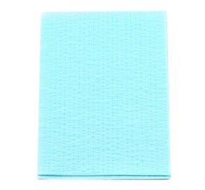 "Advantage Patient Towels, 2-Ply Tissue with Poly, 18"" x 13"", Blue - 500/Case"