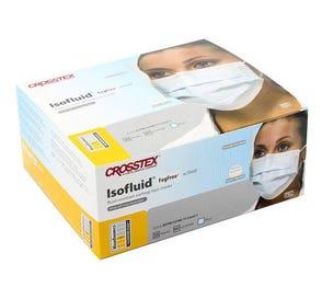 Isofluid® FogFree® Earloop Mask w/ Shield, Blue, ASTM Level 1 - 25/Box