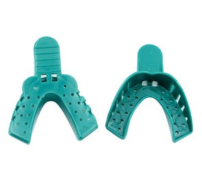 Impression Tray # 2 Perforated Large Lower Green - 12/Bag