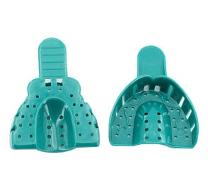 Impression Tray # 3 Perforated Medium Upper Green - 12/Bag