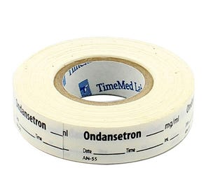 Ondansetron Labels, White, Perforated Tape Style - 333/Roll