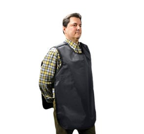 "Dual X-Ray Apron, Pano-Adult, .3 mm, 22.5"" x 26.5"", Grey Vinyl"