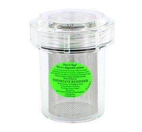 """Evac-u-Trap® Disposable Canister for Central Vacuum Pumps, 3 1/2""""W x 4 3/8""""H - 8/Box"""