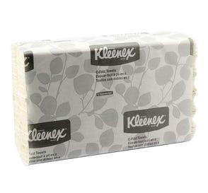 "Kleenex® C-Fold Towels, 10.125"" x 13.15"", White - 2400/Case"