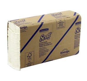 "Scott® C-Fold Towels, 10.125"" x 13.15"", White - 2400/Case"