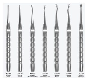 X-OTOME Hybrid (Elevator and Periotome), Angled, Distal, Medium, Green End Cap