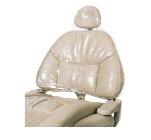 "Headrest Cover 14"" x 9 1/2"" x 2"" Clear - 250/Box"
