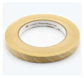 """Comply™ Steam Autoclave Tape .47"""" x 60 yds,"""