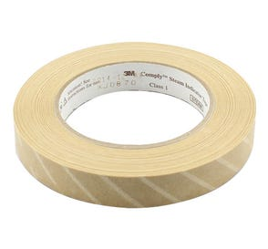 "Comply™ Steam Indicator Tape, .70"" x 60yds,"