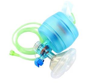 CPR-2 Adult Disposable Manual Resuscitator w/Mask, Manometer, O₂ Reservoir Bag - 25/Case
