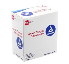 """Tongue Depressor Jr Non-Sterile 5 1/2"""" - 500/Box"""