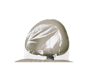 """Headrest Cover 13"""" x 10"""" All Poly Clear - 500/Case"""