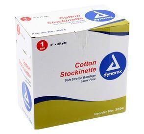 "Cotton Stockinette 4"" x 25Yds - 4 Rolls/Case"