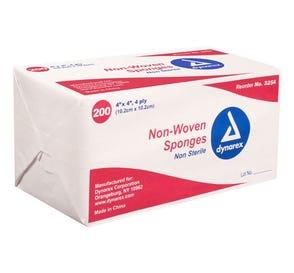 """Non-Woven Sponge, Non-Sterile, 4"""" x 4"""", 4Ply - 2000/Case"""