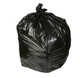 Waste Can Liner 1.8mil Black 55 Gallon - 100/Case
