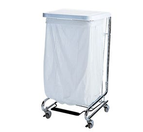 """Waste Can Liner White 33 Gallon .75mil 33"""" x 39"""" - 150/Case"""