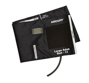 Adcuff™ Blood Pressure Cuff & Bladder, Large Adult (34-50 cm), Black, 1-Tube w/E-sphyg™ 2 Connector