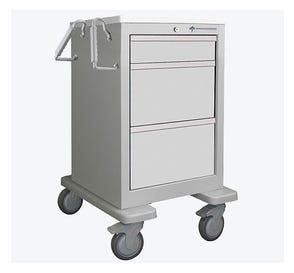 Medical Cart, 3-Drawer, Steel