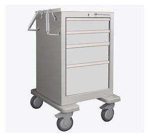Medical Cart, 4-Drawer, Steel