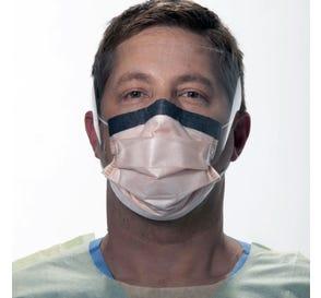 FLUIDSHIELD Level 3 Fog-Free Procedure Mask, w/WrapAround Visor, Earloops, Orange - 25/Box
