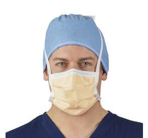FLUIDSHIELD ASTM Level 3 Fog Free Surgical Mask w/Foam Strip, Orange - 50/Box