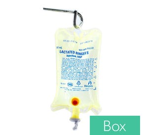 Lactated Ringer's, 500ml Plastic Bag for Injection - 24/Case