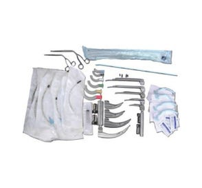 Intubation Kit with Disposable Fiberoptic Laryngoscopes